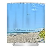 Jacksonville Fl Beach Shower Curtain