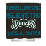 Jacksonville Jaguars I Believe Shower Curtain