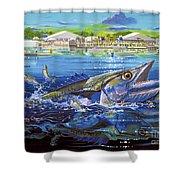 Jacksonville Kingfish Off0088 Shower Curtain
