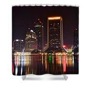 Jacksonville Night Shower Curtain