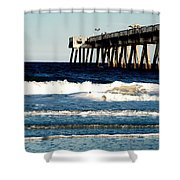 Jacksonville Pier Shower Curtain
