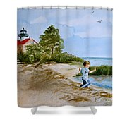Jacob At East Point  Shower Curtain