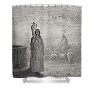 Jacob Keeping Laban's Flock Shower Curtain