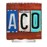 Jacob License Plate Name Sign Fun Kid Room Decor. Shower Curtain