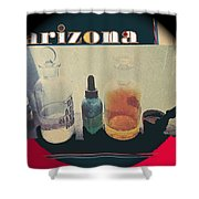 Jacobs Assay Office Front Window Tucson Arizona 1880-1969  Shower Curtain