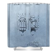 Jacques Cousteau Diving Suit Patent Shower Curtain
