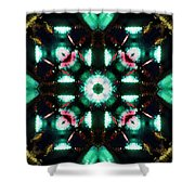 Jade Reflections - 3 Shower Curtain