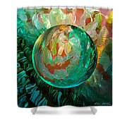 Jaded Jewels Shower Curtain by Robin Moline
