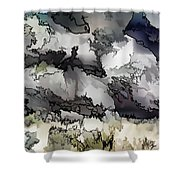Jagged And Flowing Shower Curtain