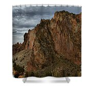 Jagged Peaks At Smith Rock Shower Curtain