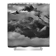 Jagged Peaks Glaciers And Storms Shower Curtain