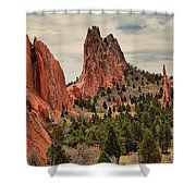 Jagged Peaks Of The Gods Shower Curtain