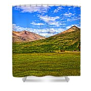 Jagged Peaks Shower Curtain