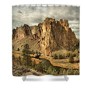 Jagged Smith Rock Shower Curtain