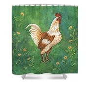 Jagger The Rooster Shower Curtain