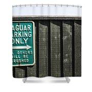 Jaguar Car Park Shower Curtain by Joana Kruse