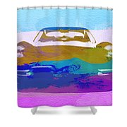 Jaguar E Type Front Shower Curtain by Naxart Studio