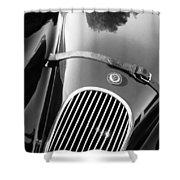 Jaguar Hood Emblem - Grille Shower Curtain by Jill Reger