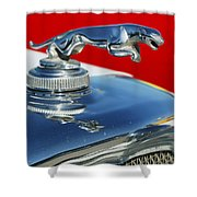Jaguar Hood Ornament 2 Shower Curtain