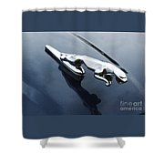 Jaguar Hood Ornament Shower Curtain