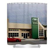 Jaguar Land Rover At Dusk Shower Curtain