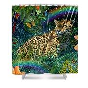Jaguar Meadow  Variant 1 Shower Curtain