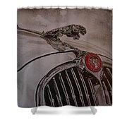 Jaguar Mk II Bonnet Shower Curtain