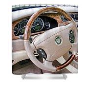 Jaguar S Type Interior Shower Curtain