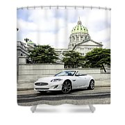 Jaguar Xk And The Capitol Building Shower Curtain