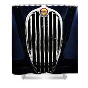 Jaguar Xk140 Grille Shower Curtain