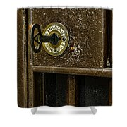 Jail Cell Door Lock  And Key Close Up Shower Curtain
