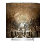 Jail - Eastern State Penitentiary - End Of A Journey Shower Curtain
