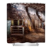 Jail - Eastern State Penitentiary - Sick Bay Shower Curtain by Mike Savad