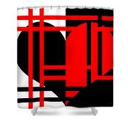 Jailed Heart Shower Curtain