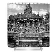 Jain Temple Monochrome Shower Curtain