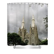 Jakarta Cathedral Indonesia Shower Curtain