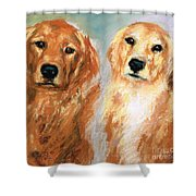 Henry And Jakie Shower Curtain