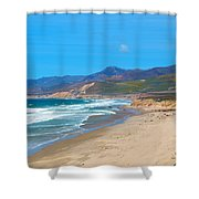 Jalama Beach Santa Barbara County California Shower Curtain