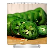 Jalapeno Pepper Shower Curtain