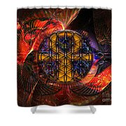 Jaliel Shower Curtain by Mynzah Osiris