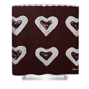 Jam-filled Cookies Shower Curtain