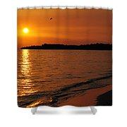 Jamaica Sunset Shower Curtain