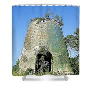 Jamaican Sugar Mill Shower Curtain