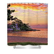 Jamaican Sunset Shower Curtain
