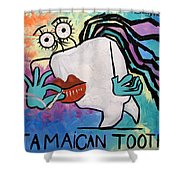 Jamaican Tooth Shower Curtain by Anthony Falbo