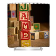 James - Alphabet Blocks Shower Curtain