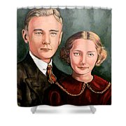 James And Ina K Shower Curtain