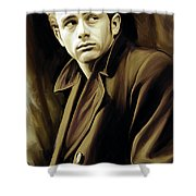 James Dean Artwork Shower Curtain