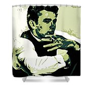 James Dean Poster Art Shower Curtain