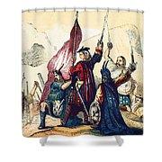 James IIi Lands In Scotland, 1715 Shower Curtain